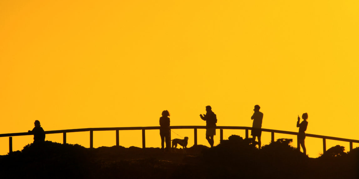 Portugal Algarve Sonnenuntergang